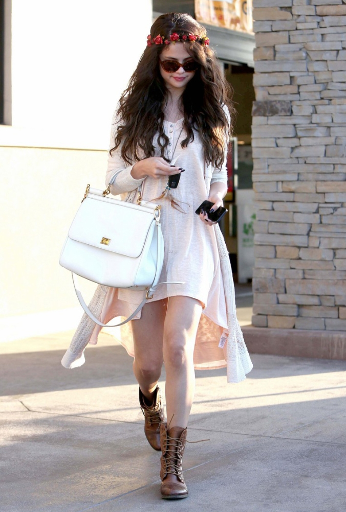 Selena Gomez goes Boho Chic in Tarazana